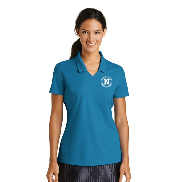 Nike Ladies Dri Fit Micro Pique Polo - Teal