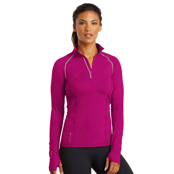 Ogio Ladies Nexus 1/4 Zip - Flush Pink
