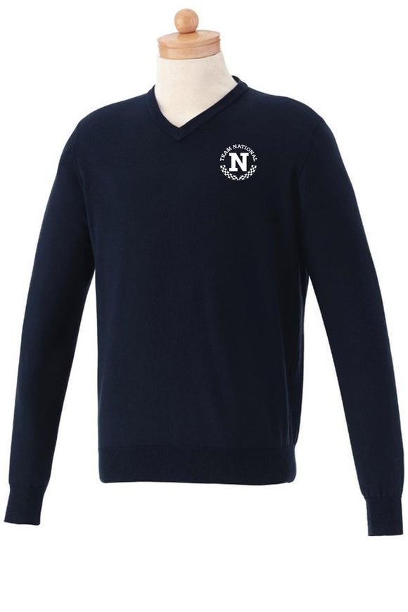 M-Osborn V-Neck Sweater - Blue