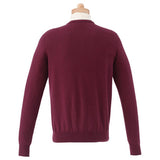 M-Osborn V-Neck Sweater - Red