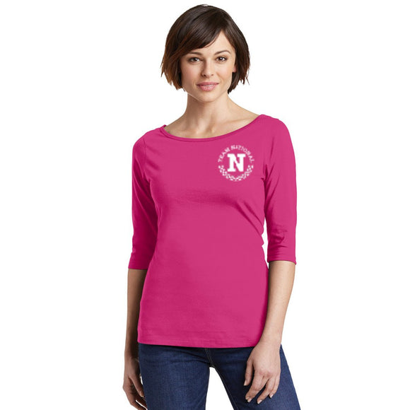 Perfect Weight 3/4 Sleeve - Fushia