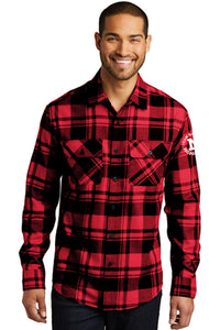 Port Authority Plaid Flannel Shirt - Red