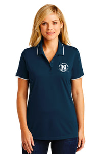 Port Authority Ladies Dry Zone UV Mesh Tipped Polo - Navy/White