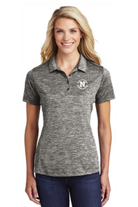 Sport-Tek® Ladies PosiCharge® Electric Heather Polo - Black Electric