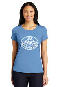 PosiCharge Competitor Scoop Neck Tee - Carolina Blue
