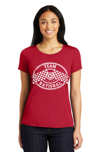 PosiCharge Competitor Scoop Neck Tee - Deep Red