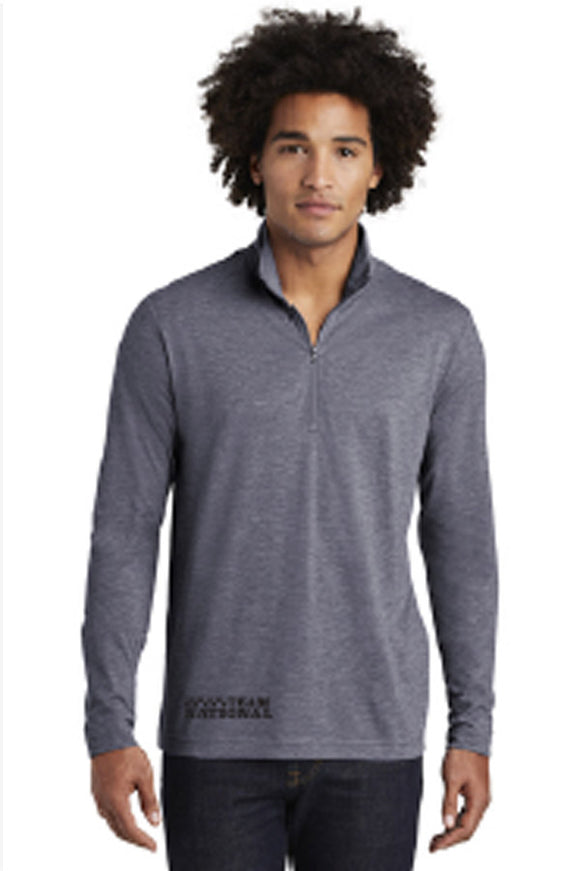 Men's Posicharge Tri Blend 1/4 Zip - True Navy Heather