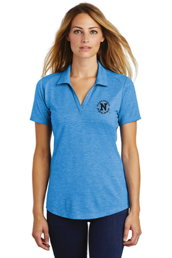 Sport-Tek® Ladies PosiCharge® Tri-Blend Wicking Polo - Blue