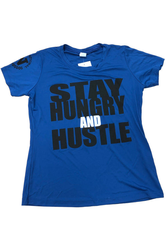 PosiCharge Competitor Tee - Blue Stay Hungry & Hustle