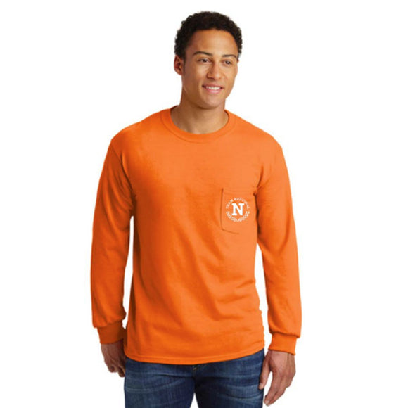 Ultra Cotton L/S W/Pocket Tee - Orange