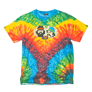 "VINTAGE TIE DYE FLIP SKATEBOARDS ""CHEECH & CHONG"" T-SHIRT (Men's Large)"