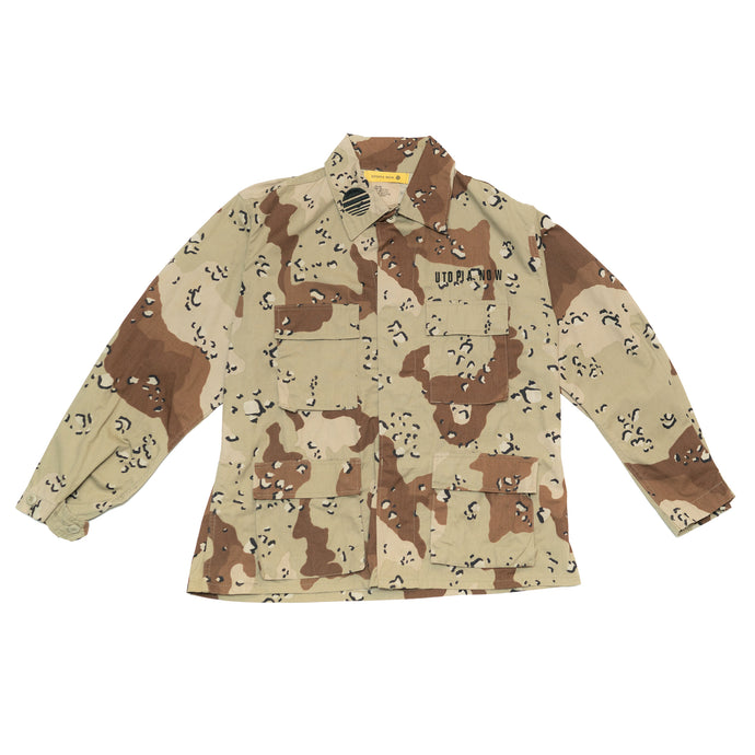 BURNING MONK Desert Camouflage Military Jacket