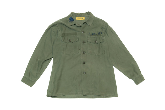 BURNING MONK 1960s Military Jacket