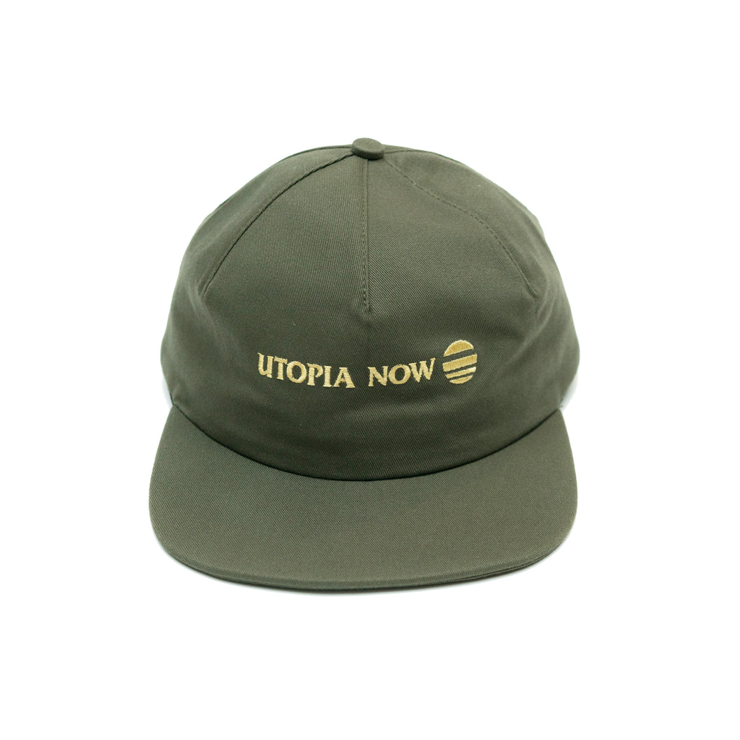 DROP 1 One-Panel Hat (Olive/Gold)