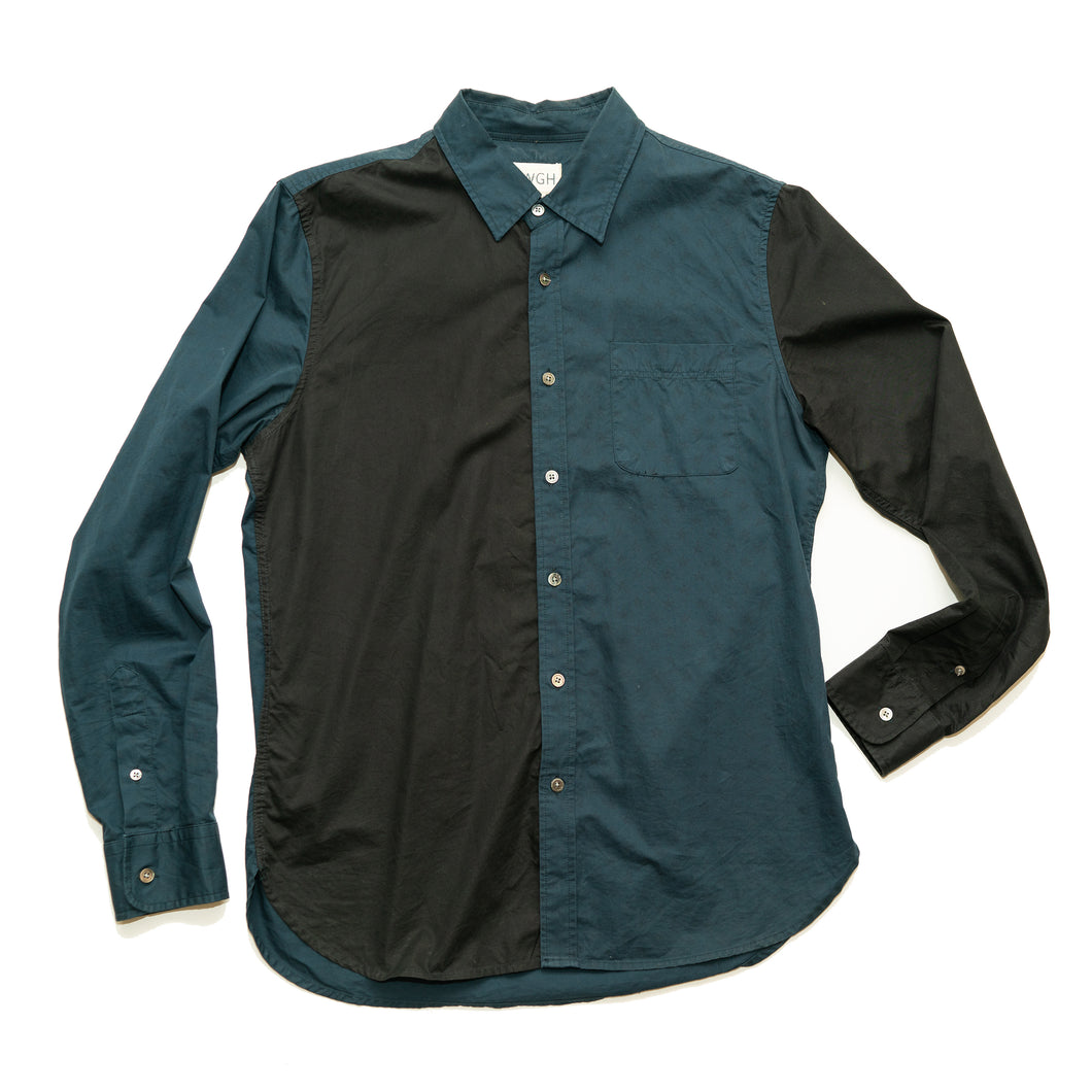 BWGH BROOKLYN WE GO HARD 2-TONED L/S BUTTON-UP SHIRT (Men's Medium)