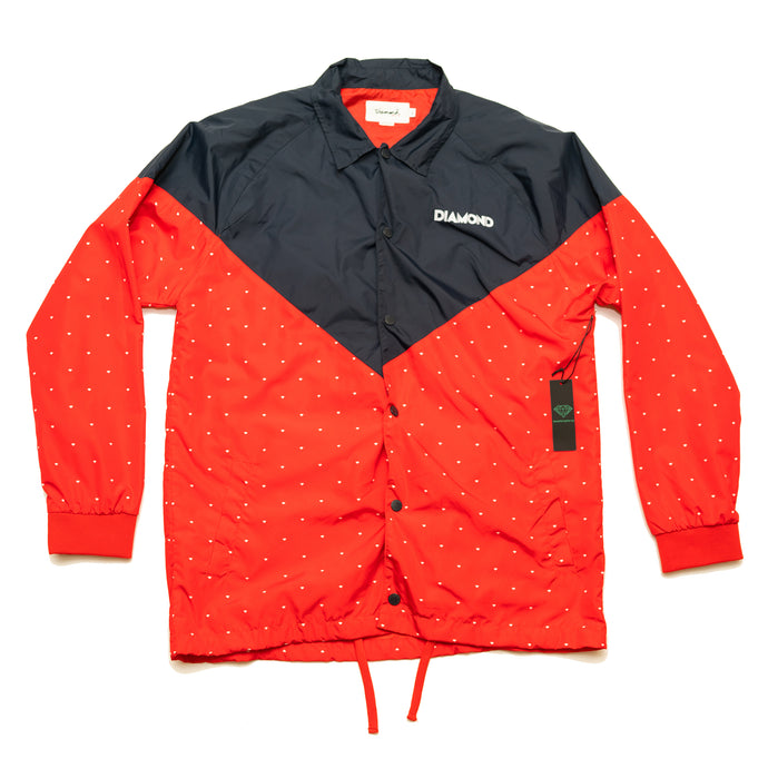 DIAMOND NAVY/RED WINDBREAKER  (New Old Stock, Men's L)
