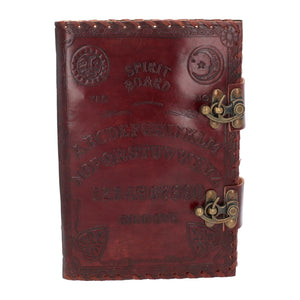 Large Leather Journal : Ouija Board with Double Lock - Dusty Rose Essentials