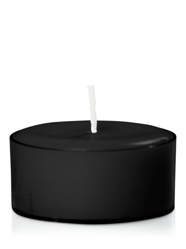 Dusty Rose Essentials : Spell Candle : Moreton Eco Acrylic Cup Tealight Candle BLACK