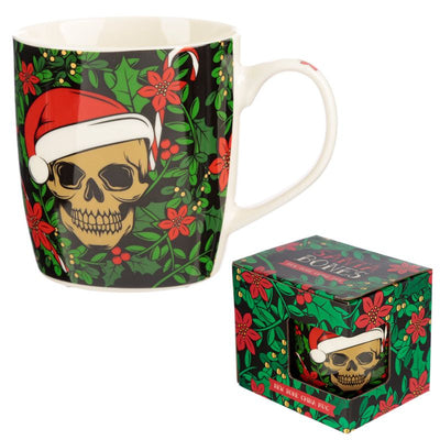 Dusty Rose Essentials : Santa Bones Christmas Skull Mug