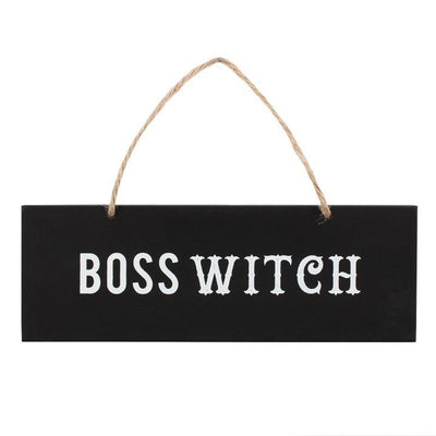 Dusty Rose Essentials : Boss Witch Hanging Sign