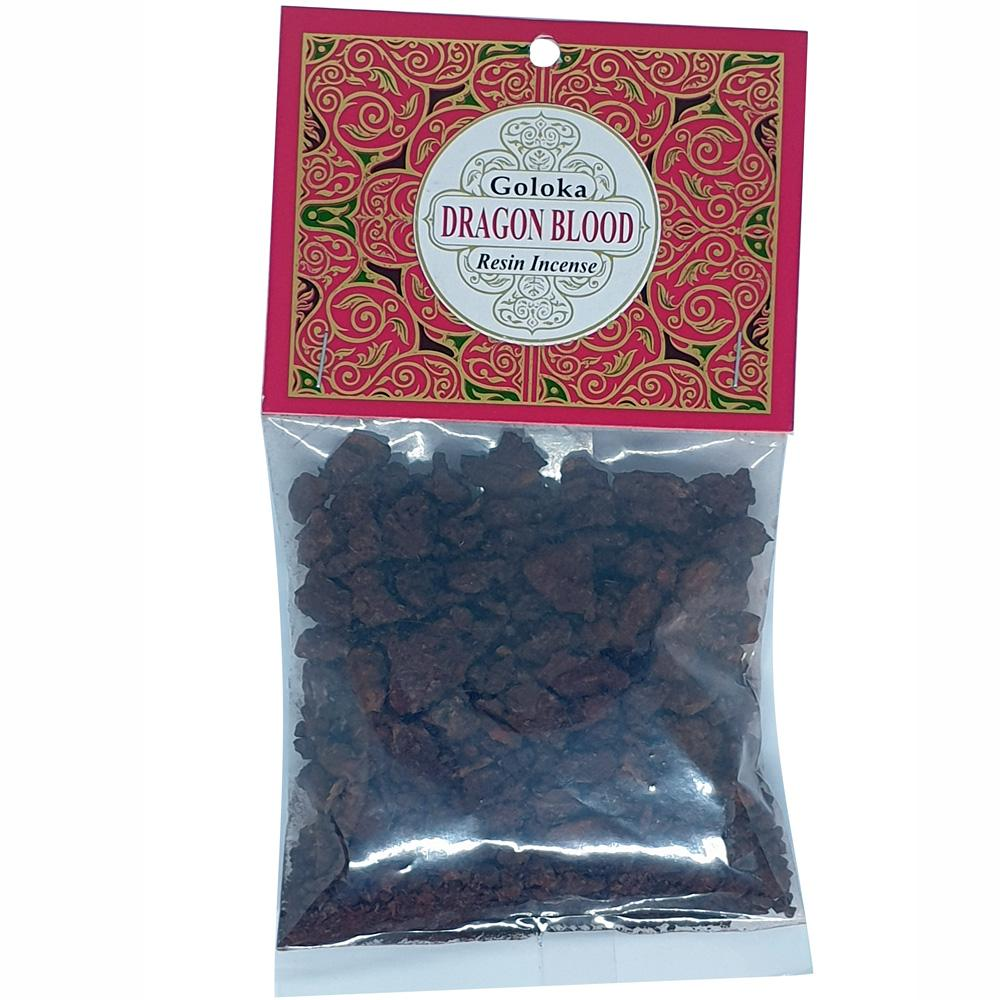 Dusty Rose Essentials : Goloka Resin Incense : Dragon's Blood 30 Grams