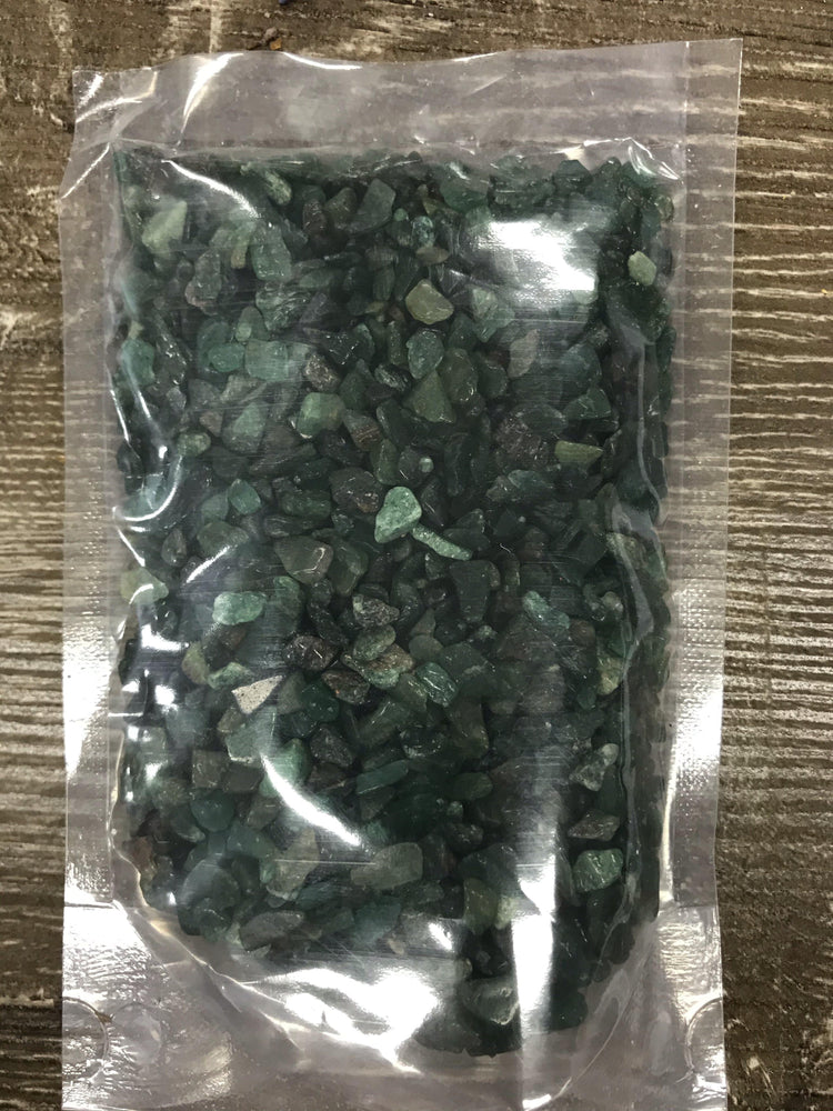 Crystal Chips :  Green Aventurine 1 kg - Dusty Rose Essentials