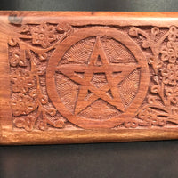Dusty Rose Essentials : Hand Carved Wooden Pentacle Box