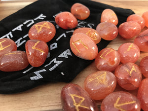 Carnelian Rune Set - Dusty Rose Essentials