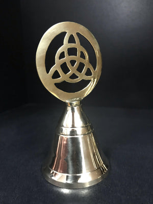 Dusty Rose Essentials : Brass Bell Triquetra 10 cm