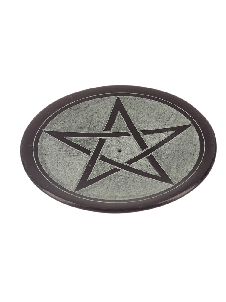 Soapstone Incense Cone Holder ~ Pentacle