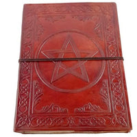 Dusty Rose Essentials : MEDIUM Leather Journal : Pentacle