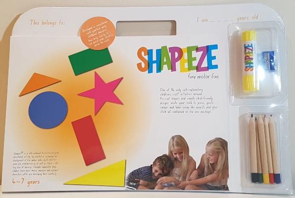 Gifts Actually - Shapeeze A4 activity pad 4-7 years