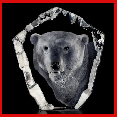 Gifts Actually - Mats Jonasson Crystal - Polar Bear (33361).