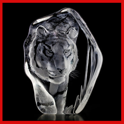 Gifts Actually - Mats Jonasson Crystal - Tiger (33378).