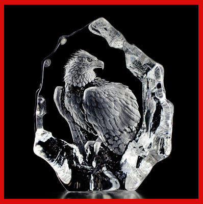 Gifts Actually - Mats Jonasson Crystal - Bald Eagle (33574).