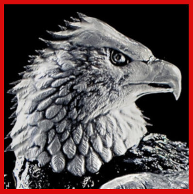 Gifts Actually - Mats Jonasson Crystal - Bald Eagle (33574). Close-up
