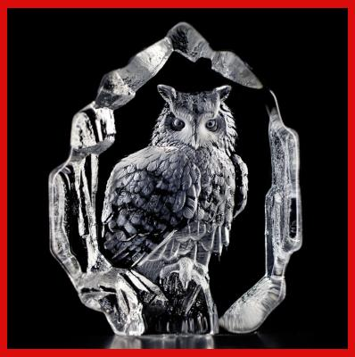 Gifts Actually - Mats Jonasson Crystal - Eagle Owl (33600)