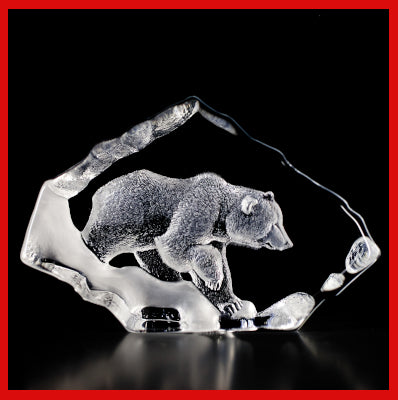 Gifts Actually - Mats Jonasson Crystal - Grizzly Bear (33607).