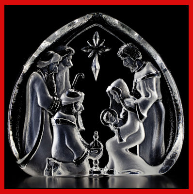 Gifts Actually - Mats Jonasson Crystal - Christmas Crib (33612).