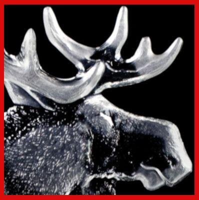 Gifts Actually - Mats Jonasson Crystal - The Moose Family  (33636). Close-up