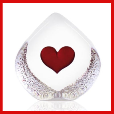 Gifts Actually - Mats Jonasson Crystal - Red Heart (33773)