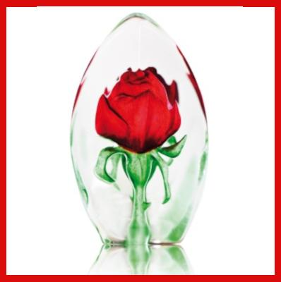 Gifts Actually - Mats Jonasson Crystal - Red Rose (33837).