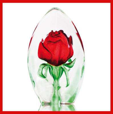Gifts Actually - Mats Jonasson Crystal - Red Rose (33838).
