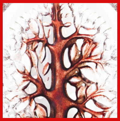 Gifts actually - Mats Jonasson Crystal - Tree of Life Red - (YGGDRASIL) (33980) -  Close up