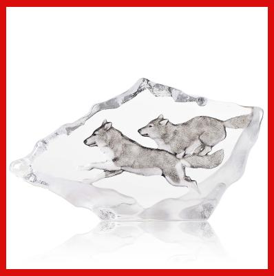 Gifts Actually - Mats Jonasson Crystal - Wolves (34066).