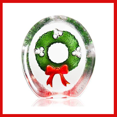 Gifts Actually - Mats Jonasson Crystal - Christmas Wreath (34239)
