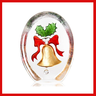 Gifts Actually - Mats Jonasson Crystal - Bell & Mistletoe (34240)