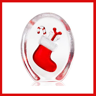 Gifts Actually - Mats Jonasson Crystal - Christmas Stocking (34241)