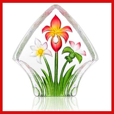 Gifts Actually - Mats Jonasson Crystal - Floral Fantasy  Red Bouquet Small  (34248).