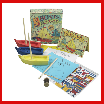 Gifts Actually - 3 boats in a box - Craft & Educational